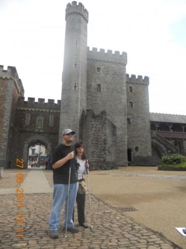 Tony and Tatiana by the south entrance gateway.