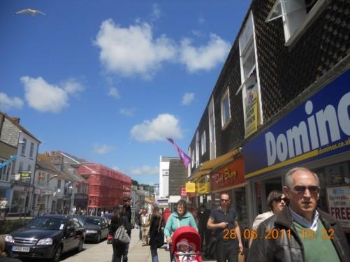 Looking along Market Jew Street.