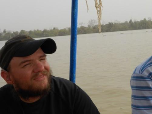 Tony on-board the boat.