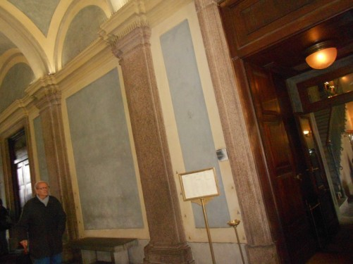 Corridor inside the Palazzo Reale.