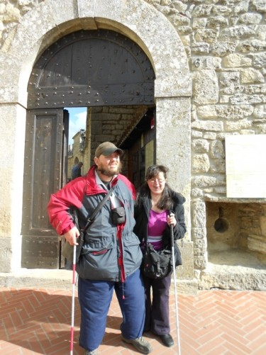 Tony and Tatiana at the fortress entrance.