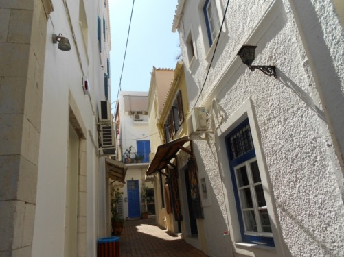A narrow side street.