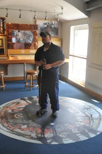 Inside  Hartlepool's Maritime Museum.