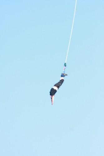 Tony nearing the bottom of the jump.