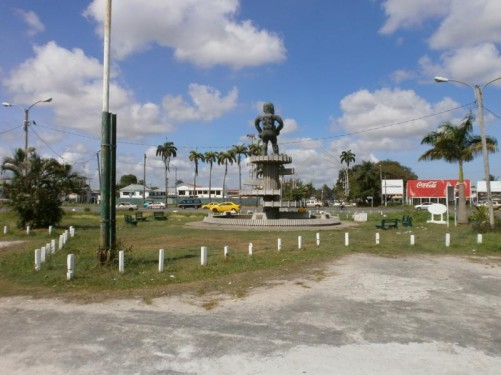 Another view of the 1763 Monument and the park around it.