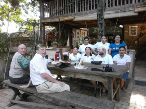 Another picture of the Rock View staff, plus two male guests.
