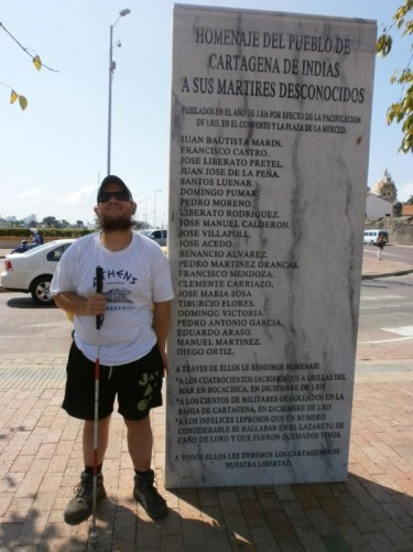 Tony by a memorial listing the names of those who were executed in 1816 following the reconquest of the city and region by the Spanish. In November 1811, Cartagena had declared its independence, but the Spanish retook control following a five-month siege in 1815.