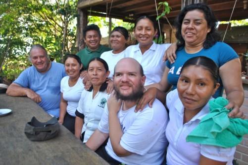 Tony with the Rock View staff and Colin and Velda Edwards, Annai Village, Guyana, November 2012