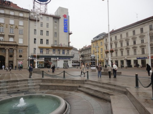 View across Ban Jelacic Square.