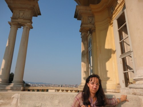 Tatiana outside the Gloriette.