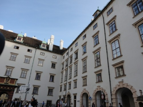Another view towards Swiss Gate. The Imperial treasury (Schatzkammer) is accessed through here.
