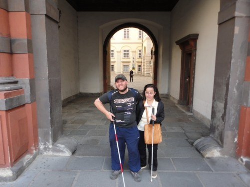 Tony and Tatiana stood in the Swiss Gate.