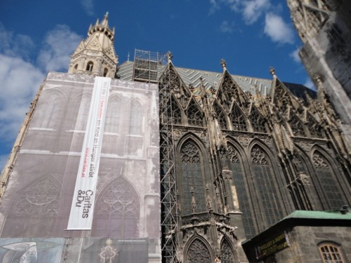 The cathedral's exterior from Stephansplatz.