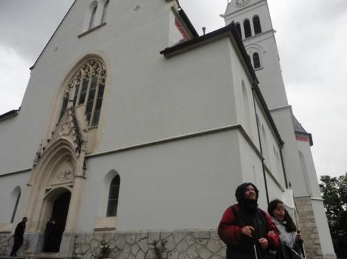Tatiana, Tony outside St Martin's Church.