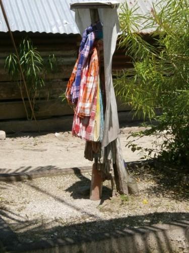 Washing hanging to dry.
