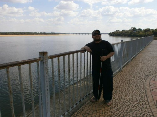 View across the wide Rio Branco (River Branco).