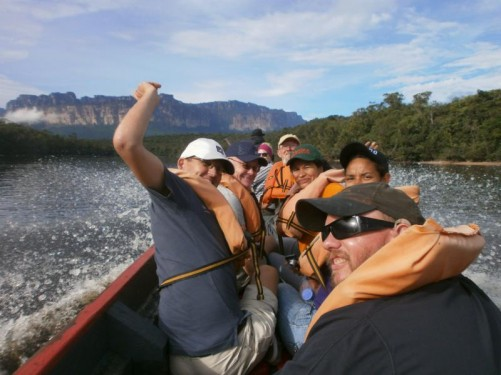 Group photo in the canoe.