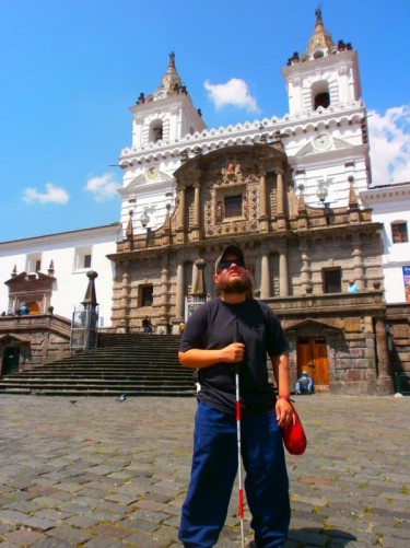 Outside the Church and Monastery of St Francis (Iglesia y Monasterio de San Francisco).