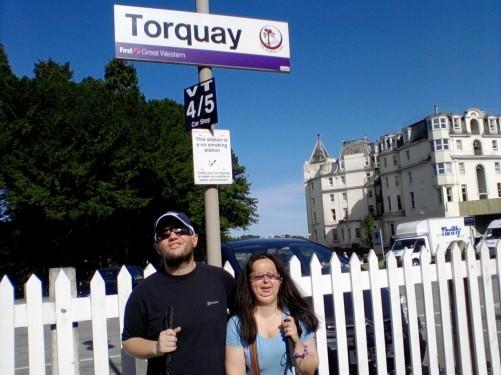 Torquay railway station.