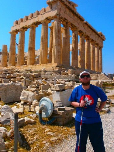 Tony in front of the Parthenon.