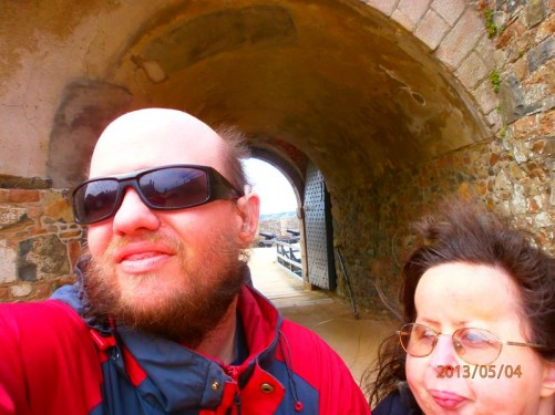 Tony and Tatiana at a short tunnel through the walls.