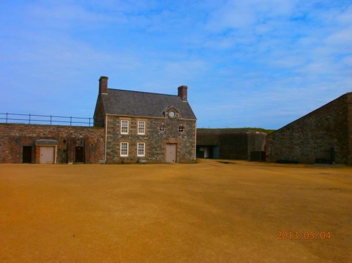 View across the Lower Ward to the former Canteen building, again dating from 1735.