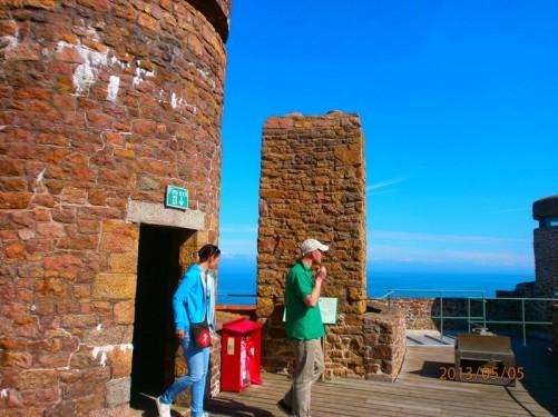 The castle ramparts.