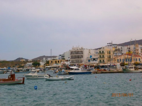 Looking across the port at Tinos. Lots of small boats.