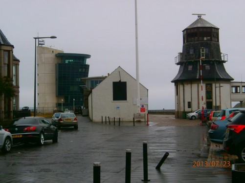 Marine Operations Centre building looking out over the harbour.