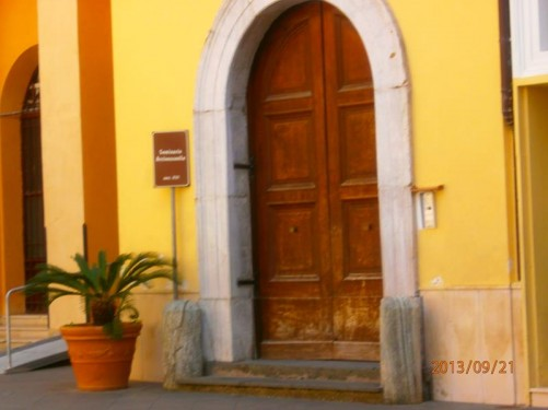 Door to the Seminario Arcivescovile (Archbishop's Seminary), located immediately next to Sorrento Cathedral (Duomo).