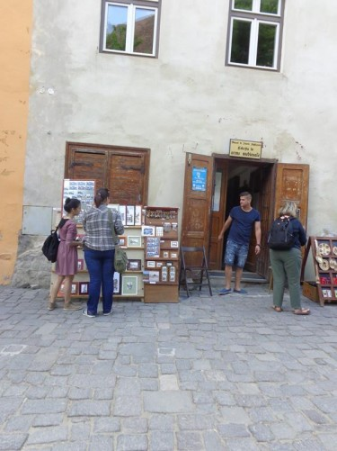 A shop selling craft items on a short street between Museum Square and Citadel Square.
