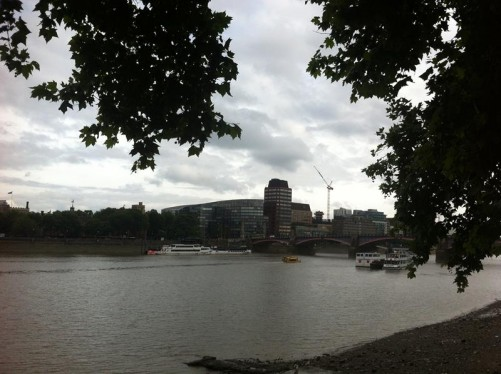 Looking the other way along the river towards Lambeth Bridge.