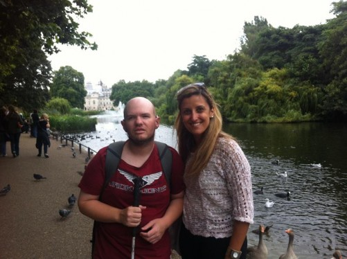 Tony and Giselle by St James's Park Lake.