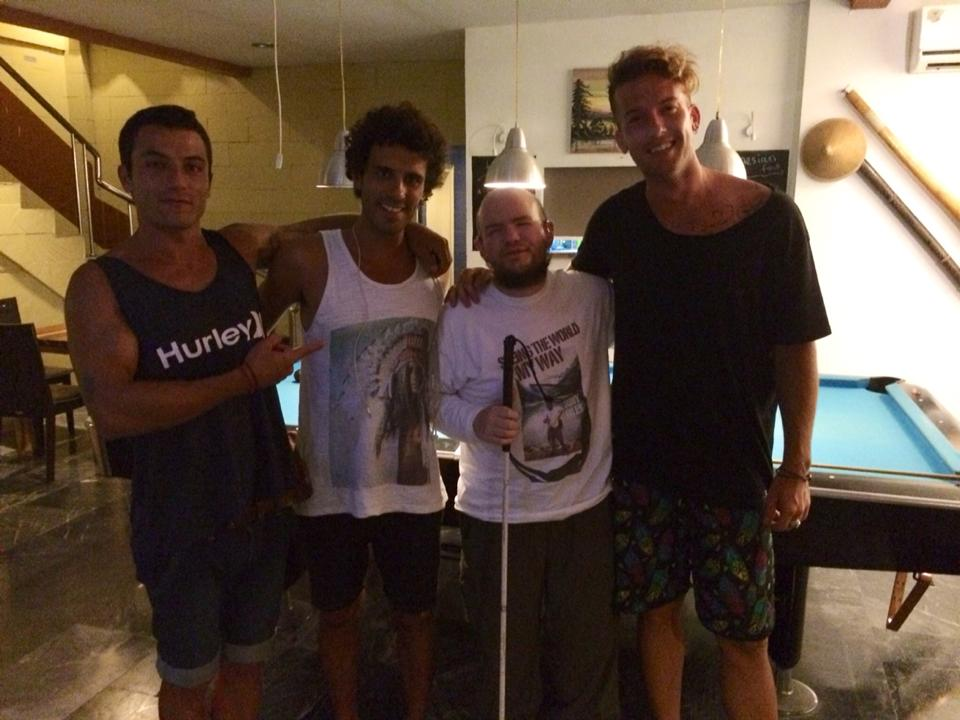 Tony Giles Blind Independent Traveller Indonesia FebruaryMay - Pool table guys