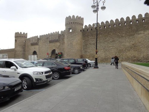 The Twin Gates (Gosha Gala) through the city walls. This is the main entrance into the old city.