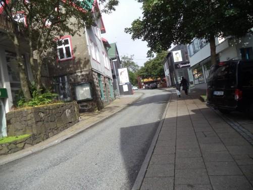 Niels Finsens Gota, Tórshavn's main shopping street.