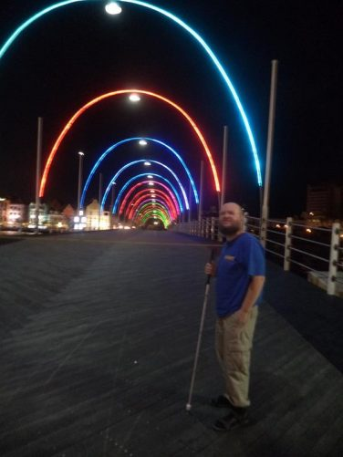 Tony on Queen Emma Bridge (also known as