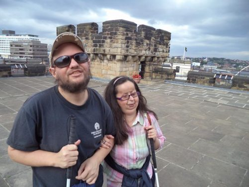 Tony and Tatiana on the roof of the medieval Castle.