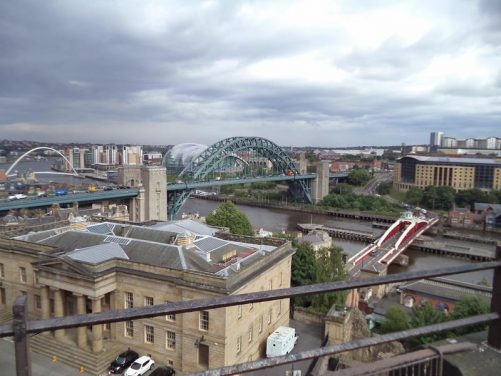 View of the Tyne Bridge from the castle.