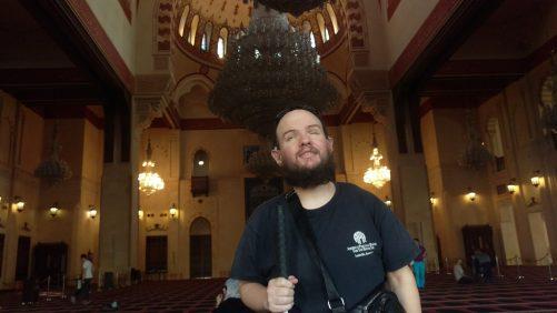 Tony inside Mohammed Al Amin mosque.