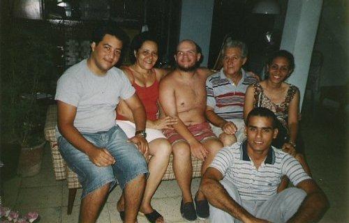 Tony with Manrique's family