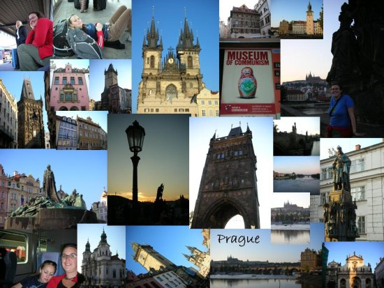Prague: a collage of photos (1)