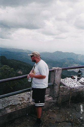 Tony in the mountains near Santiago de Cuba