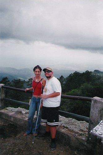 Glensy and Tony in the mountains near Santiago de Cuba