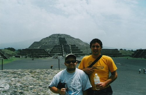 Tony and Adrian, Teotihuacan, Mexico City