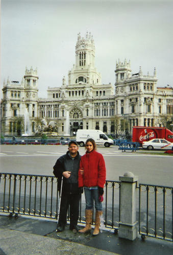 In front of a palace in Madrid with Glensey