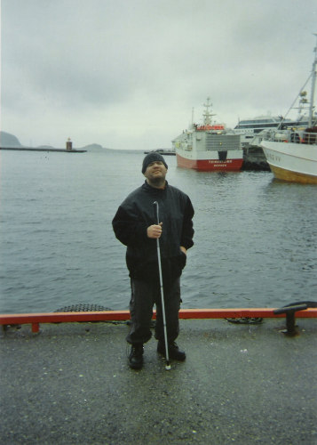Tony on his trip through the fjords