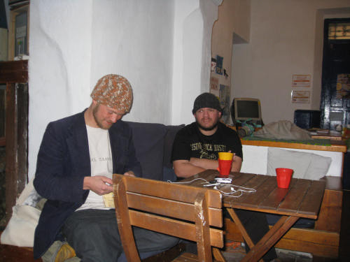 "Tony and ""Swede"" at Cadiz hostel"