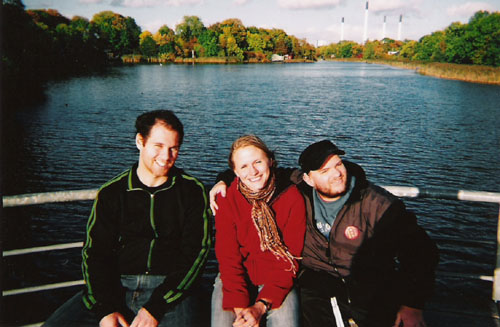 Brian, friend and Tony. Christiania, Copenhagen