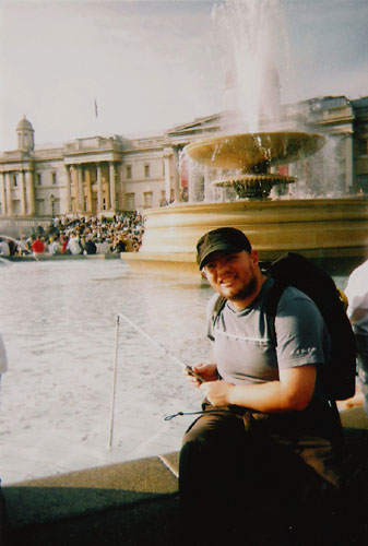 Tony in Trafalgar Square